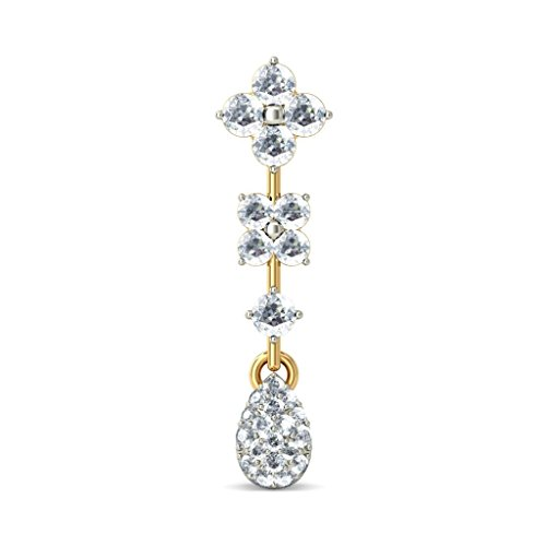 Or jaune 18 K 1,2 CT TW White-diamond (IJ | SI) Pendants d'oreilles