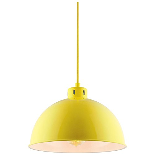 (Sunlite CF/PD/S/Y Sona Residential Ceiling Pendant Light Fixtures with Medium (E26) Base, Yellow)
