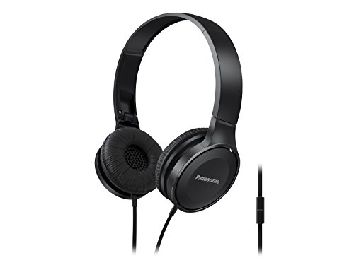 Panasonic Headphones RP HF100M K Integrated Travel Fold