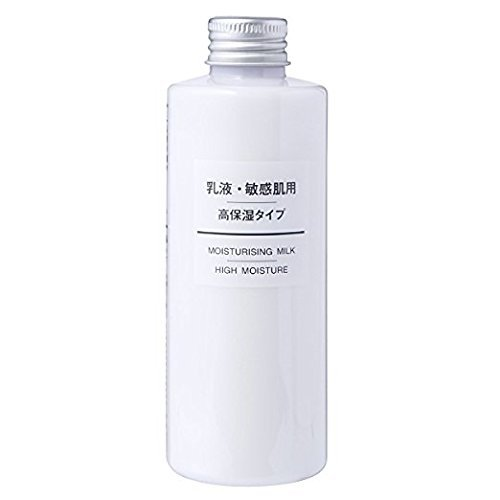 MUJI Sensitive Skin Moisturizing Milk, High Moisturizing, 200ml