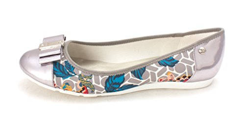 Anne Klein Womens Aricia Closed Toe Ballet Flats, Grey/Co/Fb, Size 6.0