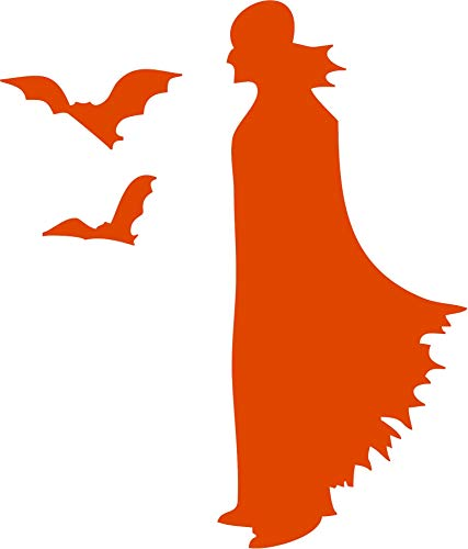 Family Connections Vampire ~ Orange ~Indoor Halloween/Window / Wall/Craft Decal with Alcohol PAD~ Size 5.98