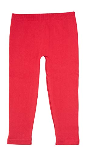 Silky Toes Baby Leggings, Toddler Seamless Soft Cotton Knit Pants for Girls and Boys (18-24 Months, Red)