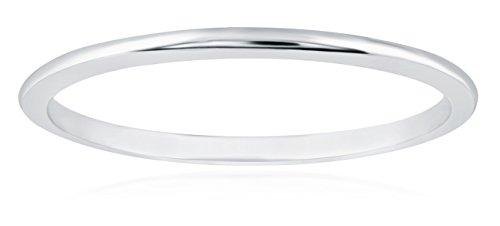 1mm Thin 14k White Gold Wedding Band Ring, Size 7