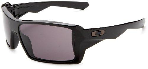 Oakley Men's Eyepatch Sunglasses,Polished Black Frame/Warm Grey Lens,one size