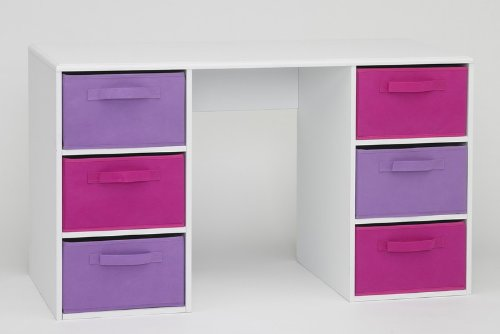 4D Concepts Girl's Student Desk, White by 4D Concepts