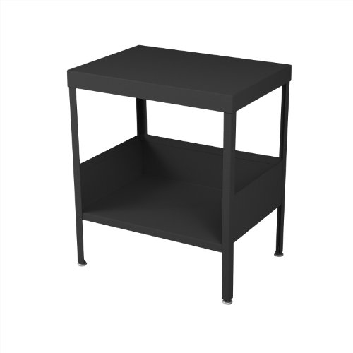 RMP Mid Century Industrial Nightstand/End Table (Black) For Sale