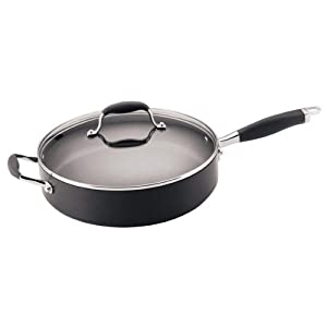 Anolon Advanced Hard Anodized Nonstick 5-Quart Covered Sauté