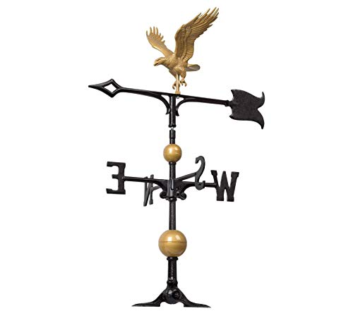 Whitеhаll Prоducts Premium Full-Bodied Eagle Weathervane, 30-Inch, Gold/Bronze