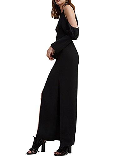 C / Meo Aucune Raison Collective Pleine Longueur Robe En Noir
