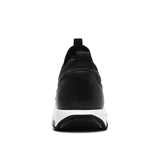 WZG Nuevos hombres zapatos casuales de la moda, calzado deportivo sandalias de los hombres respirables Black