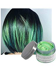 Vakker Hair Wax Color Styling Cream Mud, Natural Hairstyle Dye Pomade, Party Cosplay, Green