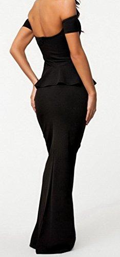 Bigood Robe Longue Femme Robes de Soirée Cocktail Dos Nu Elégant