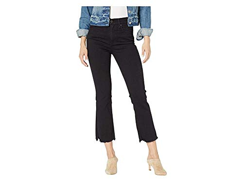 Levi's Women's Mile High Crop Flare Jeans, Pardon My French, Black, 29