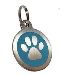 Personalizado grabado 25mm acero inoxidable azul canina perro mascota etiqueta de identificación........ DEJAR GRABADO DETALLES LEA DESCRIPCIÓN DEL PRODUCTO más abajo esta página.