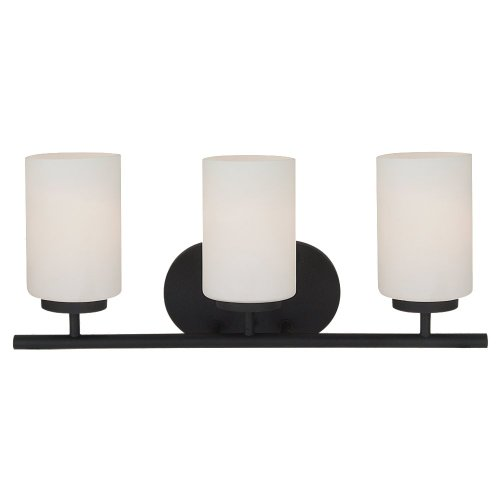 Sea Gull Lighting 41162-839 Oslo Three Light Wall/Bath Vanity Style Lights, Blacksmith - Blacksmith Bath 839 Finish