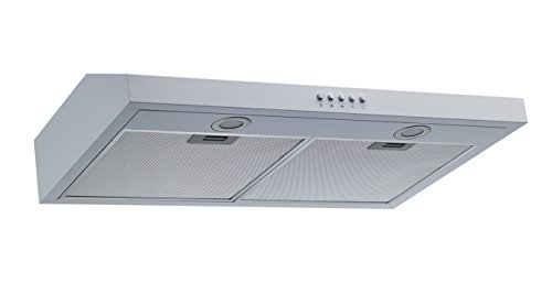 Winflo 30'' Under Cabinet White Color European Slim Design Kitchen Range Hood Push Button Control Included Dishwasher-Safe Aluminum Filters and LED Lights by Winflo (Image #1)
