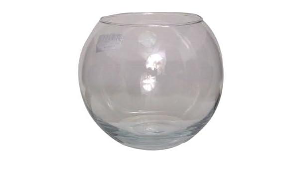 6 x cm 15,24 (15 cm) vidrio claro pecera de mesa florero de la boda de la exhibición: Amazon.es: Hogar