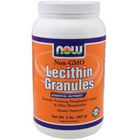 Lecithin, GRANULES NON-GMO, 2 Lb by Now Foods (Pack of 5) by NOW Foods