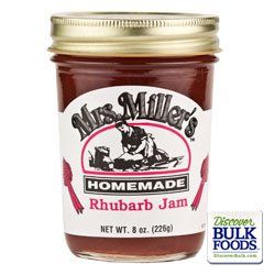 Mrs Millers Rhubarb Jam 3 x 8oz by Mrs. Miller's