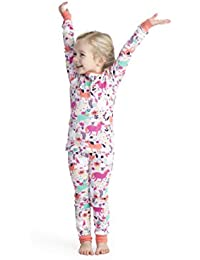 Girls' Organic Cotton Long Sleeve Printed Pajama Sets