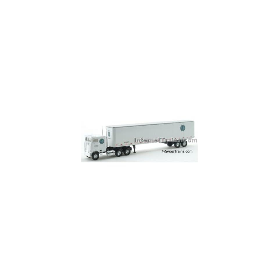 Con Cor N Scale Semi Truck w/45 Trailer   BNSF Toys & Games