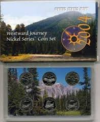 2004 P D S Westward Journey Nickel Series Coin Set Proof Uncirculated (Journey Set Coin)