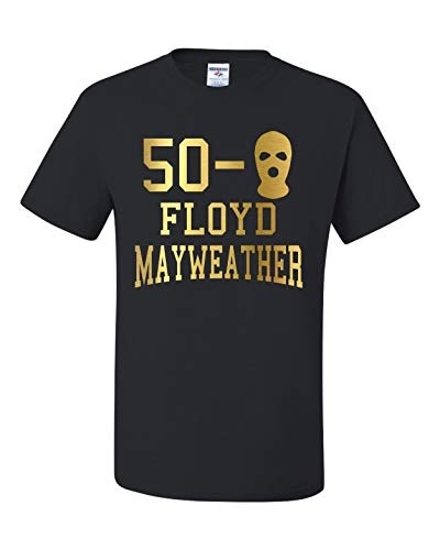 b20a2f39 50-0 Floyd Mayweather Money Fight Team Mayweather Unisex T-Shirt (M)