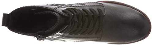 Tamaris 21 black Bottes Rangers 1 25114 Femme Noir rTwpqr