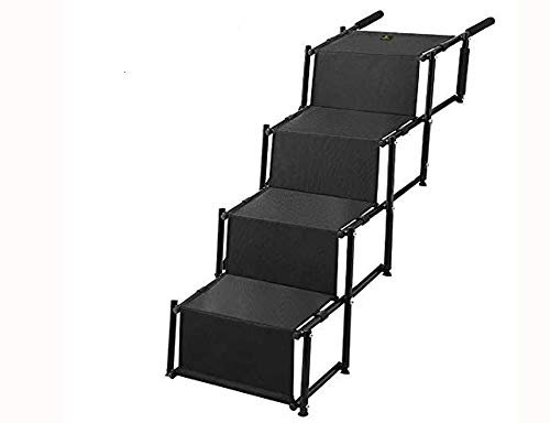 Pet Dog Car Step Stairs, Accordion Metal Frame Folding Pet R
