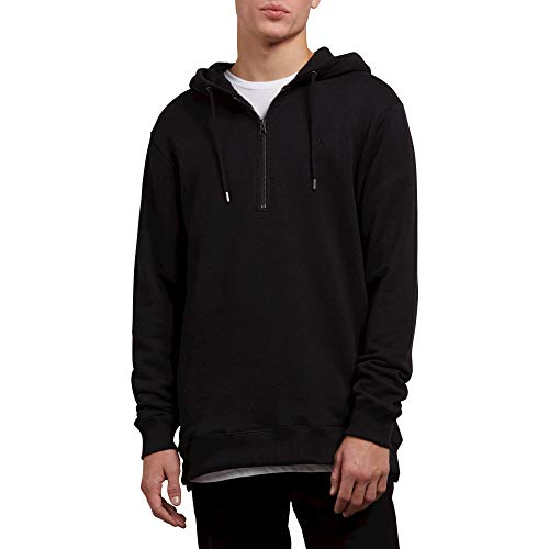 Volcom Men's Index Pullover Hooded Fleece Sweatshirt, Black, Small ()