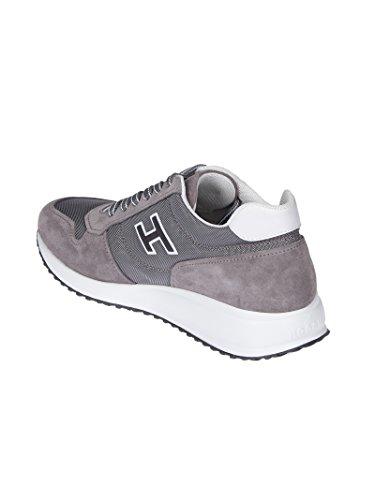 Hogan Mannen Hxm2460y790i9l413m Grijs Suède Sneakers