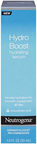 Neutrogena Hydro Boost Hydrating Hyaluronic Acid Serum, Oil-Free and Non-Comedogenic Formula for Glowing Complexion, 1 fl. oz
