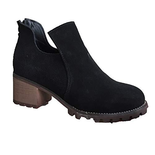 Liuxc Liuxc Liuxc High Heels Weibliche Kurze Stiefel Martin Stiefel dick mit gefrosteten PU weiblichen Quasten in High Heels 0e6653