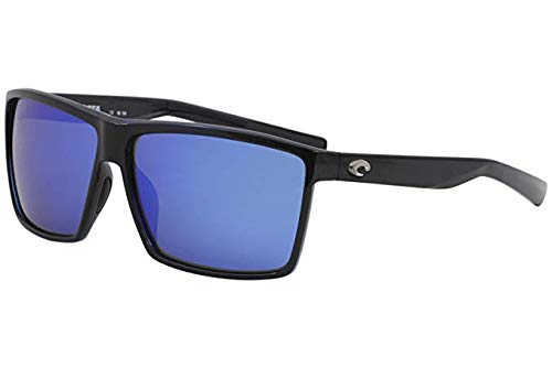 Costa Del Mar Rincon Sunglasses Shiny Black/Blue Mirror 580Glass