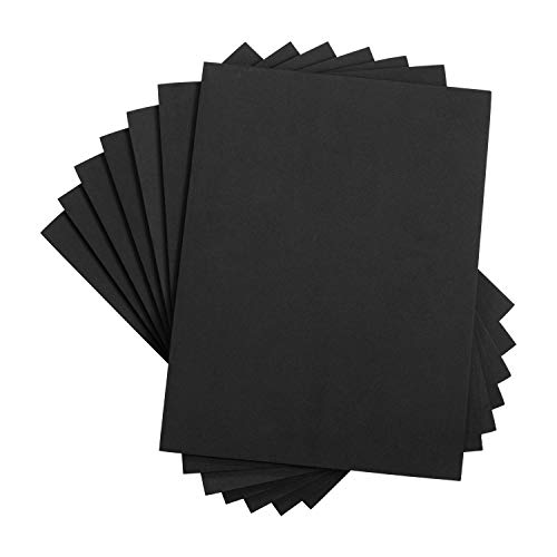 Houseables Crafts Foam Sheets, Art Supplies, EVA, 6mm Thick, Black, 9 X 12 Inch, 10 Pack, Paper Scrapbooking, Cosplay, Crafting Foams Paper, Foamie Crafts, For Kids, Boy Souts, Halloween, Cushion ()