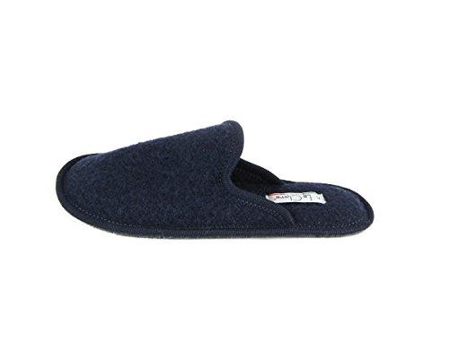 Pantofole da Donna Invernali Tinta Unita Blu