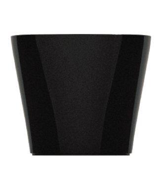 Maceta autorregable OC1009 decorativa ovalada bajita - Mini moderna interior - Suculentas - Riego inteligente - negro...