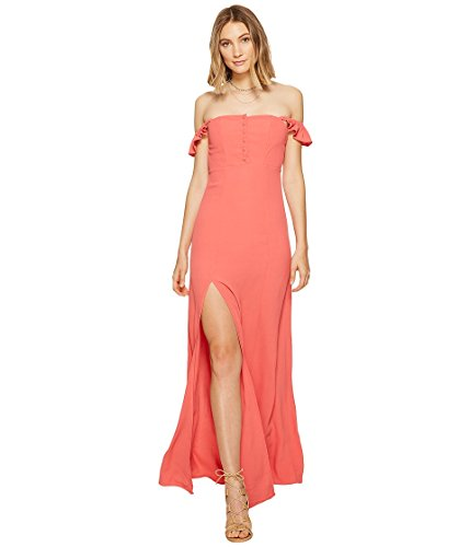 Flynn Skye Women's Bardot Maxi Dress Coral Dress