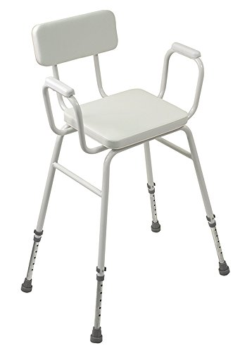 Aidapt Malling Perching Stool with Padded Arms and Padded Back (Eligible for VAT Relief in The UK)