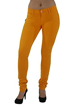Basic pants skinny leg Premium Stretch French Terry Jeggings style Moleton, With a gentle butt lifting stitching in Mustard Size XS