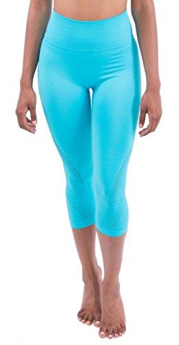 Pro-fit Seamless Women's Capri Legging Medium Ocean (Seamless Capri Leggings)