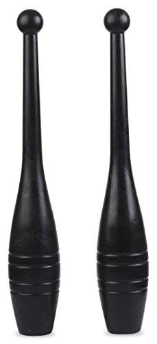 Indian Clubs - Garage Fit - Exercise Clubs - Club Bells - Shoulder Strength - Grip and Forearm Strength - Core Strength - Body Coordination - Muscle Rehab (1 lb pair NO DVD)