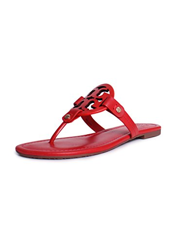 2463b6d6e8edb0 Galleon - Tory Burch Women s Vachetta Leather Flat Thong Sandals - Miller  (9