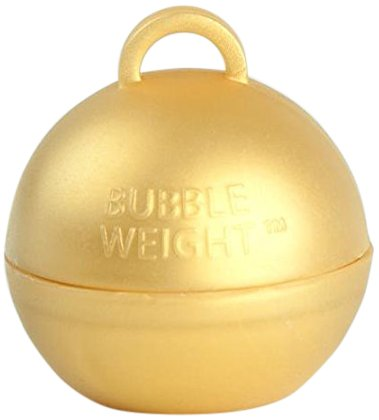 Bubble Weight Balloon Weight, 35g, Metallic Gold, 10 Piece -