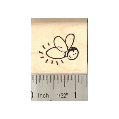Cute Firefly Rubber Stamp: Arts, Crafts & Sewing
