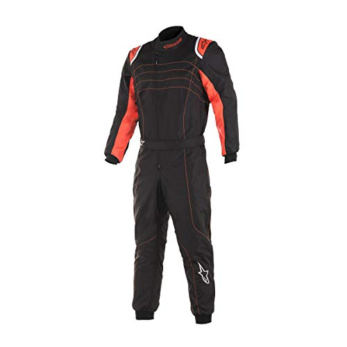 Alpinestars KMX-9 v2 S Youth Kart Racing Suit 3356519 (Size:120, Black/Red)