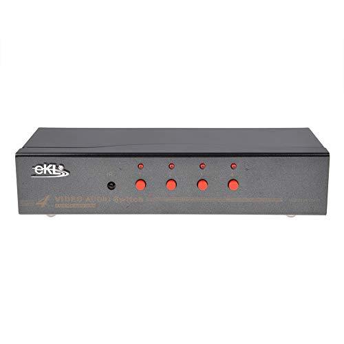 M4 4-Port Monitor VGA SVGA KVM Switch w/4 Cables Video KVM Switch Kit with romote Control
