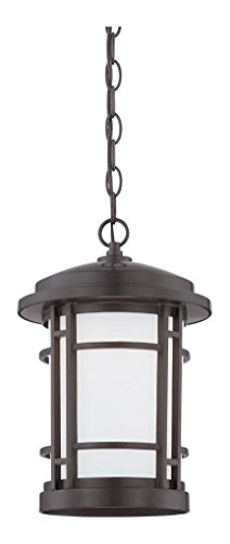 Burnished Bronze Barrister 1 Light LED Outdoor Small Pendant by Designers Fountain