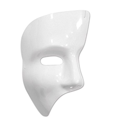 Party Central Club Pack of 24 Shiny White Phantom Mask Halloween Costume Accessories